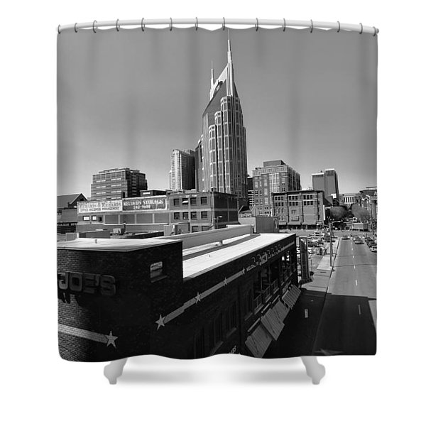 Looking Down On Nashville Shower Curtain by Dan Sproul
