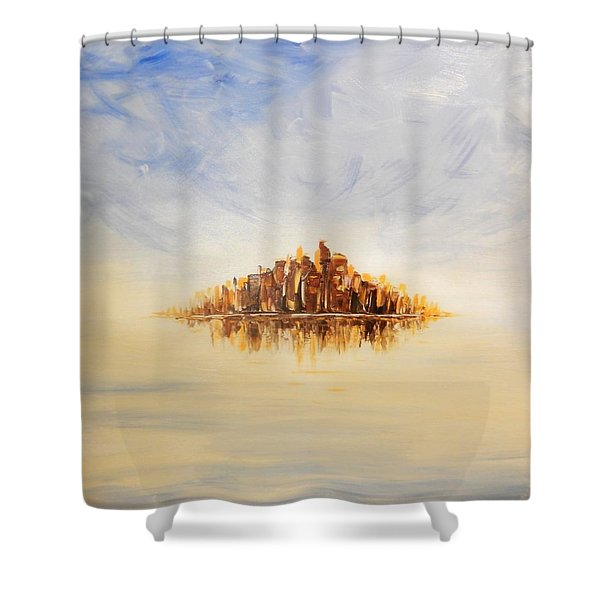 Lost City Shower Curtain by Lilia D