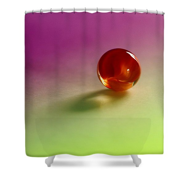 lost marbles  Shower Curtain by Tom Druin