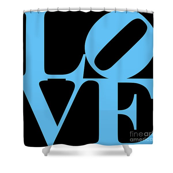 LOVE 20130707 Blue Black Shower Curtain by Wingsdomain Art and Photography