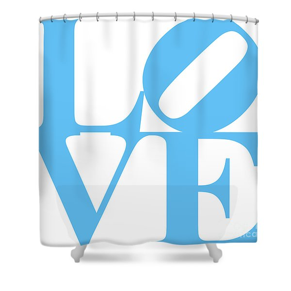 LOVE 20130707 Blue White Shower Curtain by Wingsdomain Art and Photography