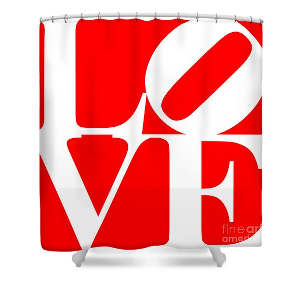 Love 20130707 White Red Shower Curtain by Wingsdomain Art and Photography