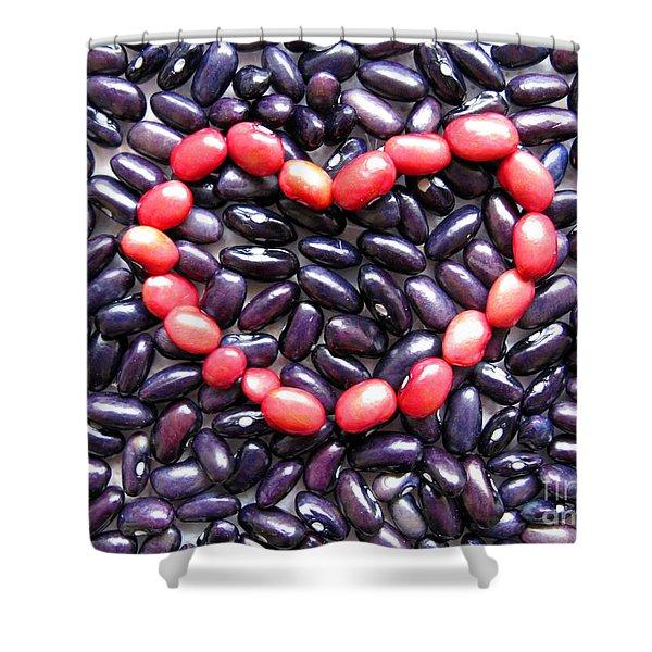 Love Beans #01 Shower Curtain by Ausra Paulauskaite