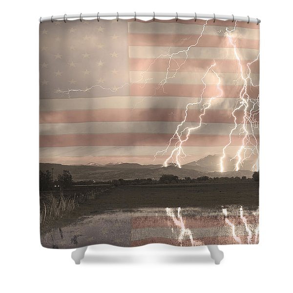 Love For Country Shower Curtain by James BO  Insogna