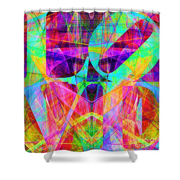 LOVE Fractals 20130707 Shower Curtain by Wingsdomain Art and Photography