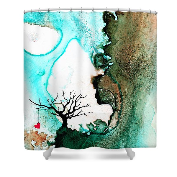 Love Has No Fear - Art By Sharon Cummings Shower Curtain by Sharon Cummings