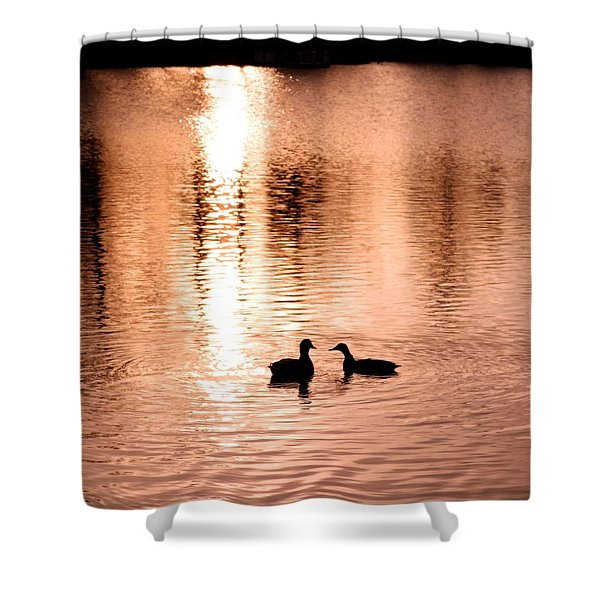 love in water Shower Curtain by Hilde Widerberg