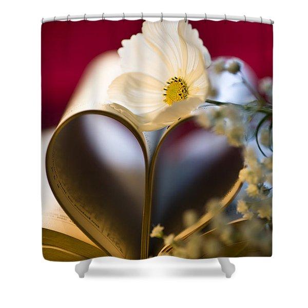Love is all Around Shower Curtain by Jan Bickerton