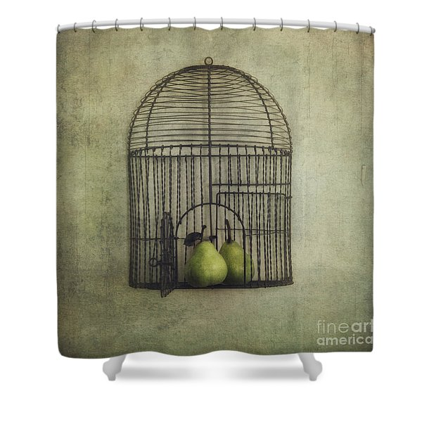 Love Is The Key Shower Curtain by Priska Wettstein