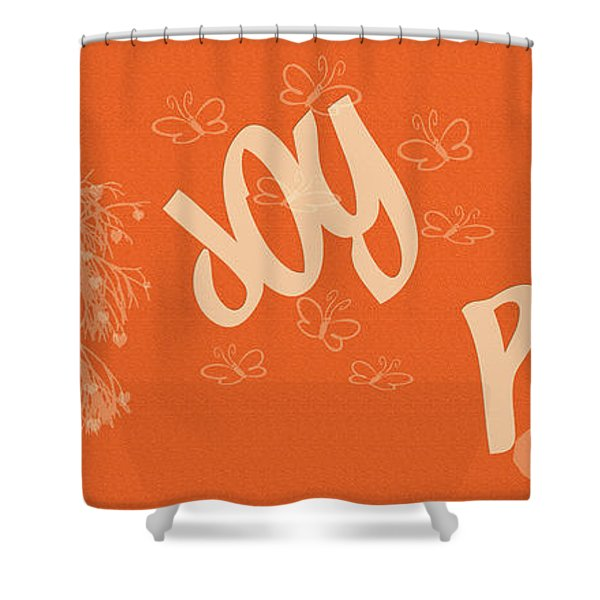 Love Joy Peace Shower Curtain by Nomad Art And  Design