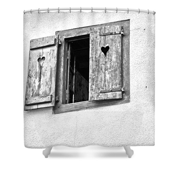 Love Shutters Shower Curtain by Nomad Art And  Design