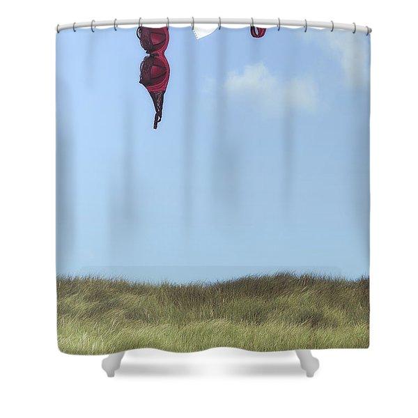 loveletter from cloud 9 Shower Curtain by Joana Kruse
