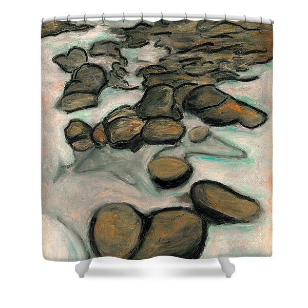 Low Tide Shower Curtain by Carla Sa Fernandes