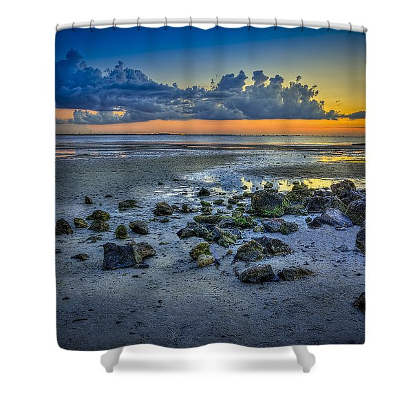 Low Tide on the Bay Shower Curtain by Marvin Spates