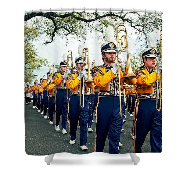 Lsu Marching Band 3 Shower Curtain by Steve Harrington
