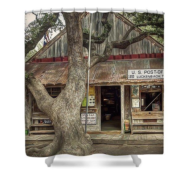 Luckenbach 2 Shower Curtain by Scott Norris