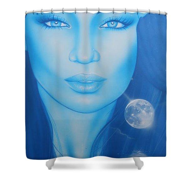 'Lunarium' Shower Curtain by Christian Chapman Art