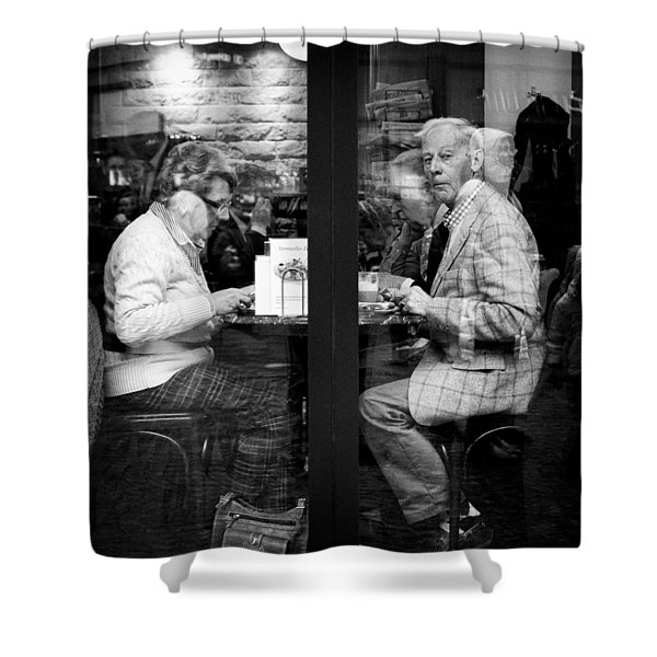 Lunch Shower Curtain by Dave Bowman