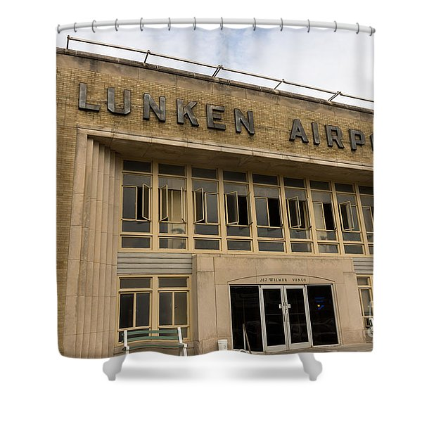 Lunken Airport in Cincinnati Ohio Shower Curtain by Paul Velgos