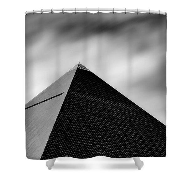 Luxor Pyramid Shower Curtain by Dave Bowman