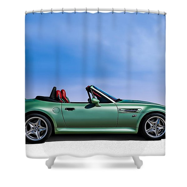 M Topless Shower Curtain by Douglas Pittman