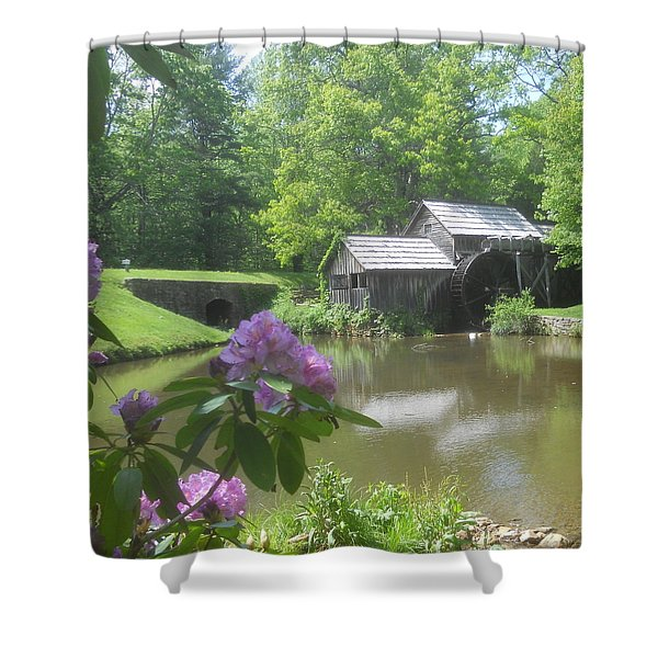 Mabry Mill In May Shower Curtain by Diannah Lynch