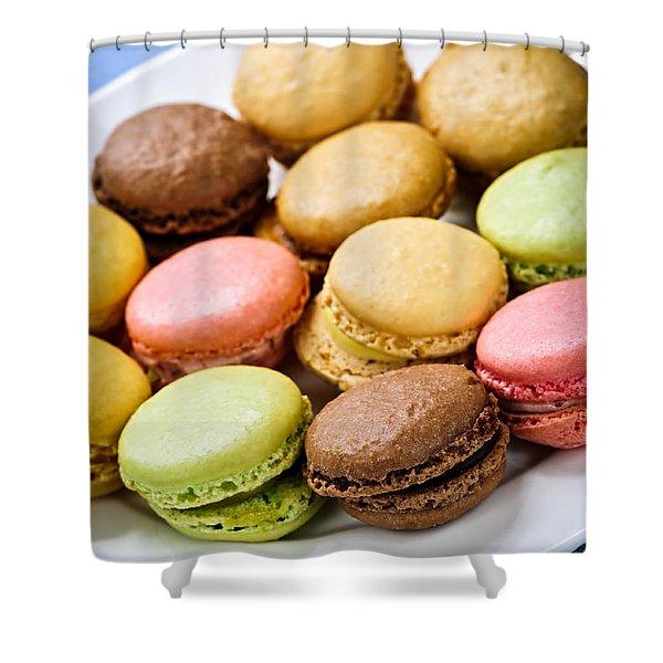 Macaroon cookies Shower Curtain by Elena Elisseeva
