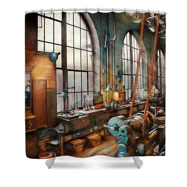 Machinist - Back in the days of yesterday Shower Curtain by Mike Savad