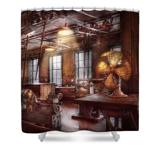 Machinist - The fan club Shower Curtain by Mike Savad