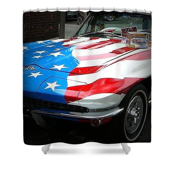 Made In Usa Shower Curtain by M and L Creations
