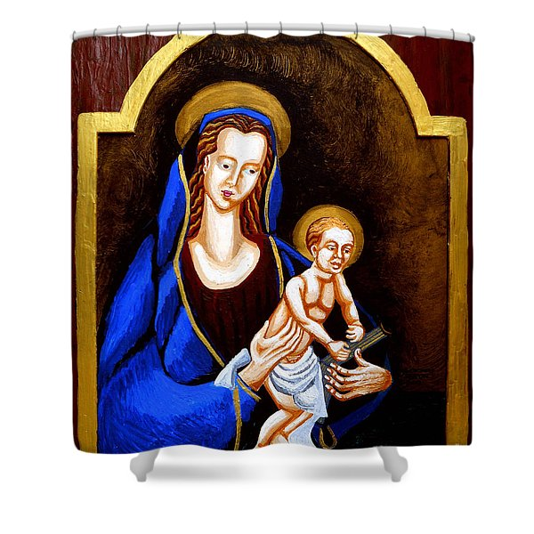 Madonna and Child Shower Curtain by Genevieve Esson
