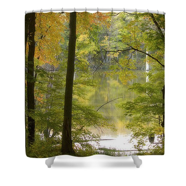Magical Maplewood Shower Curtain by Penny Meyers