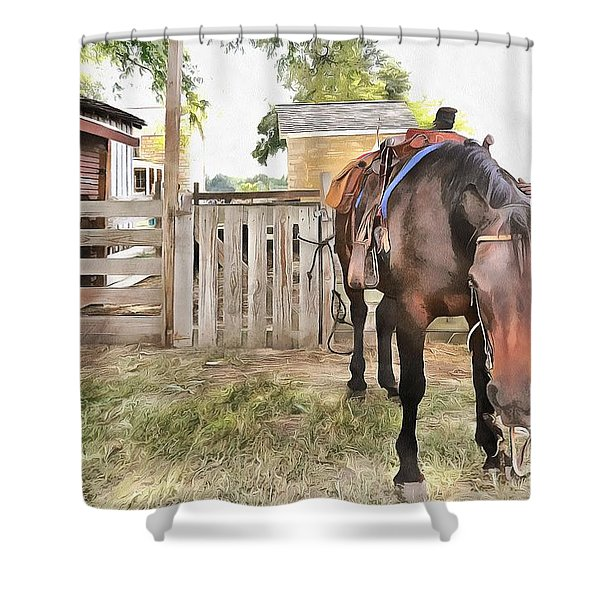 Mahaffie Stagecoach Stop And Farm Shower Curtain by Liane Wright