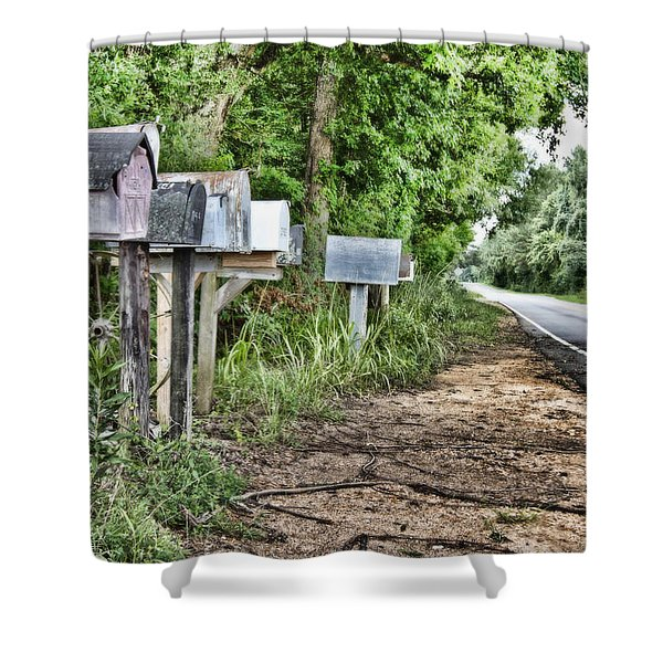 Mail Route Shower Curtain by Scott Pellegrin