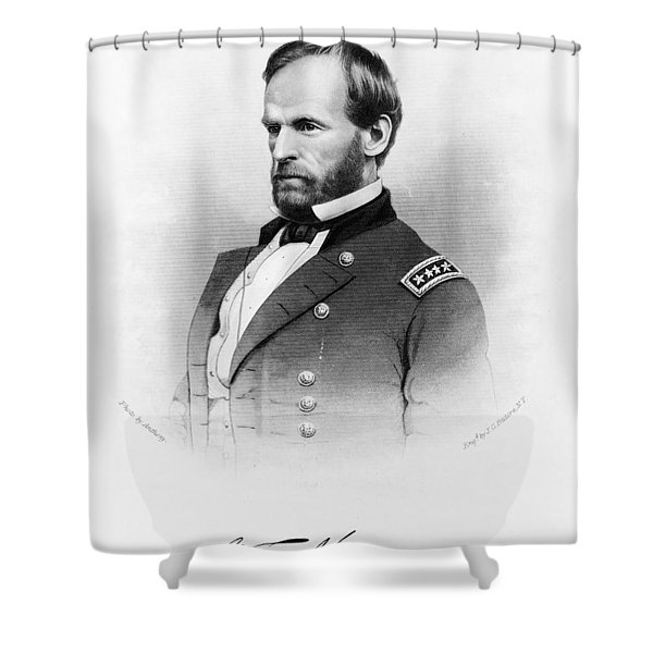 Major General William T Sherman Shower Curtain by Mountain Dreams