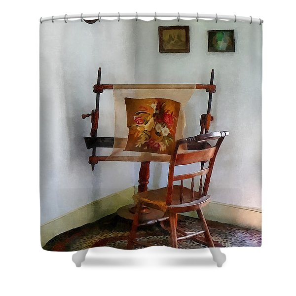 Making A Tapestry Shower Curtain by Susan Savad