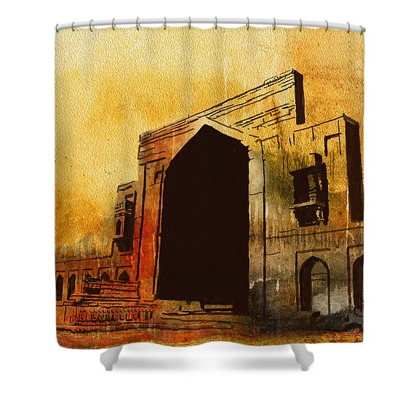 Makli Hill Shower Curtain by Catf