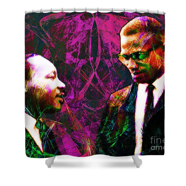 Malcolm and The King 20140205m68 Shower Curtain by Wingsdomain Art and Photography