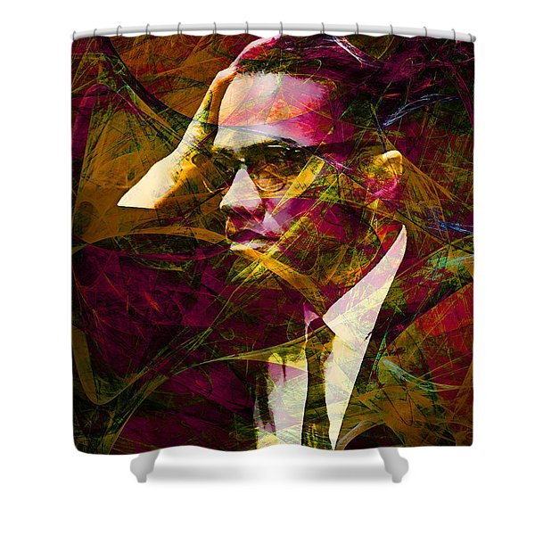Malcolm X 20140105 Shower Curtain by Wingsdomain Art and Photography