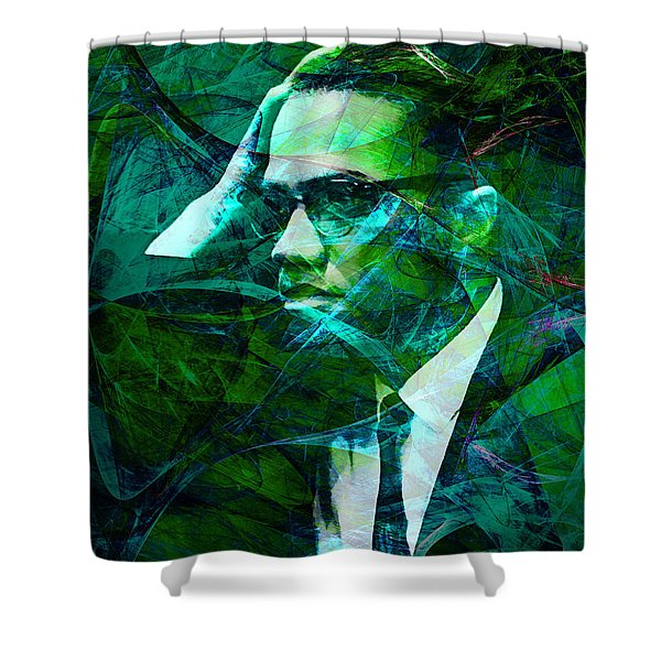Malcolm X 20140105p138 Shower Curtain by Wingsdomain Art and Photography