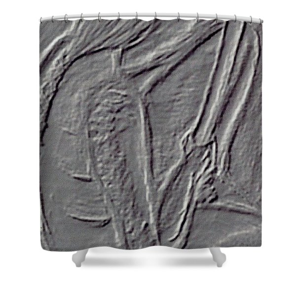 Male Life Figure Shower Curtain by M and L Creations