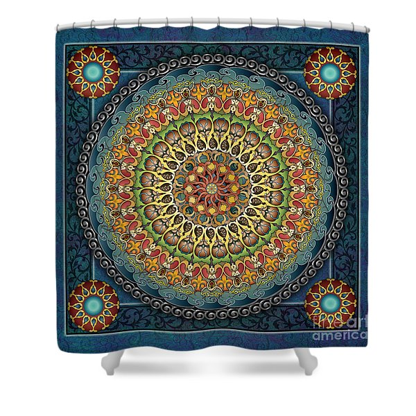 Mandala Fantasia Shower Curtain by Bedros Awak