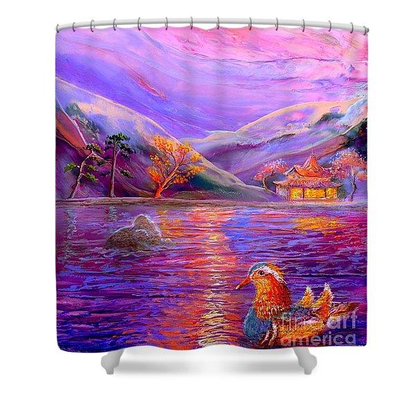 Mandarin Dream Shower Curtain by Jane Small