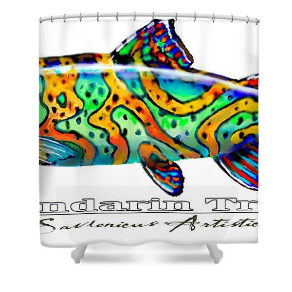Mandarin Trout Savlenicus Artisticus Shower Curtain by Mike Savlen