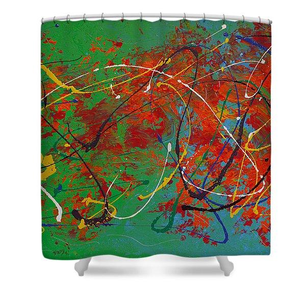 Mardi Gras Shower Curtain by Donna Blackhall