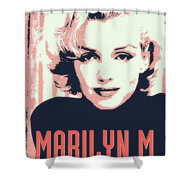 Marilyn M Shower Curtain by Chungkong Art