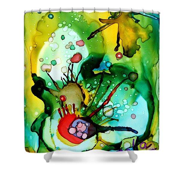 Marine Habitats Shower Curtain by Jolanta Anna Karolska