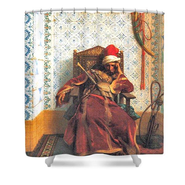 Markos Botsaris Shower Curtain by Jean Leon Gerome