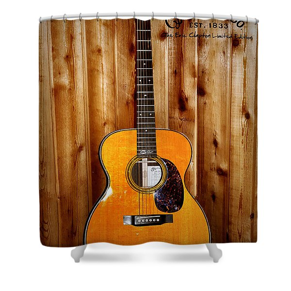 Martin Guitar - The Eric Clapton Limited Edition Shower Curtain by Bill Cannon