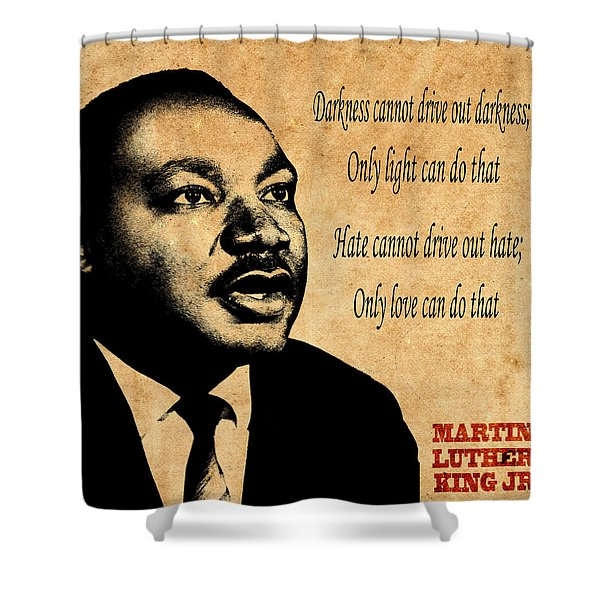 Martin Luther King Jr 1 Shower Curtain by Andrew Fare